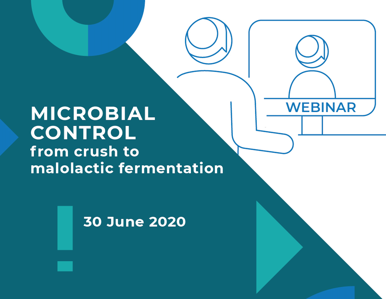 """Free Webinar """"Microbial Control from crush to malolactic fermentation"""""""