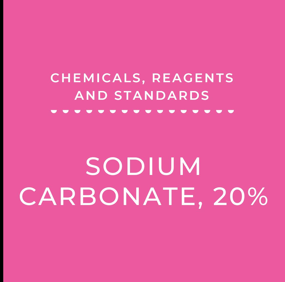 Sodium Carbonate 20%
